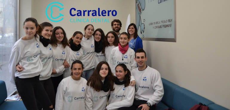Alumnos de 1º de ESO del colegio Claret visitan Clínica Carralero